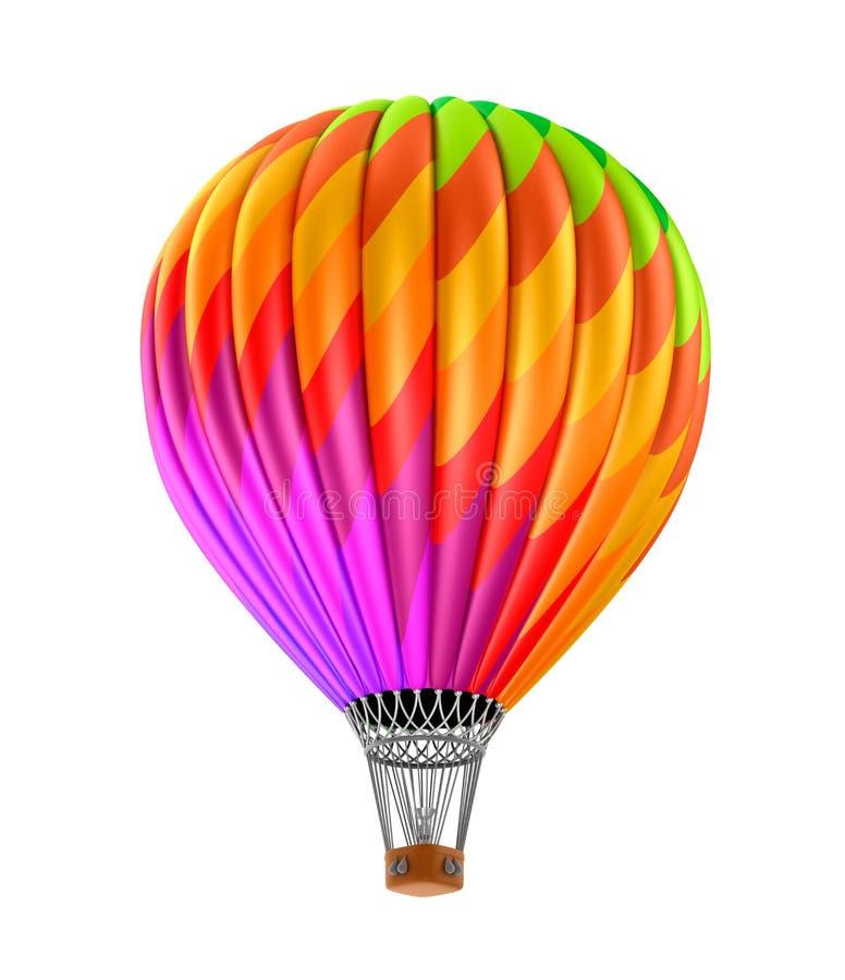 Kolorowy gorące powietrze balon royalty ilustracja