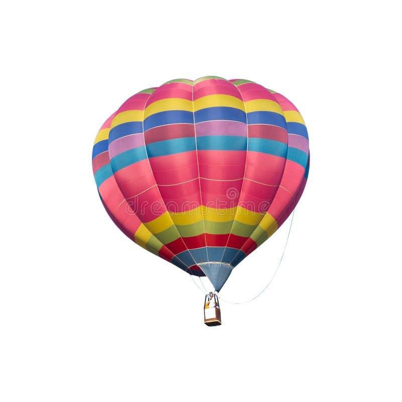 Kolorowy gorące powietrze balon na białym tle zdjęcia royalty free