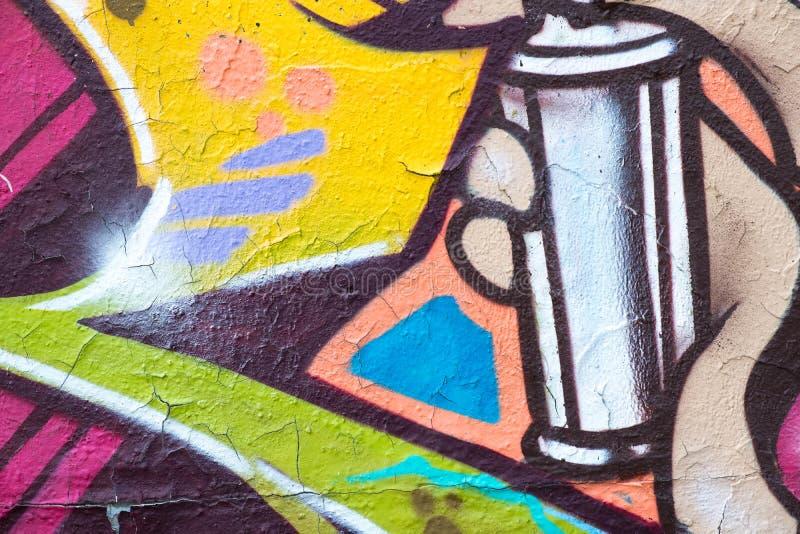 Kolorowy graffiti ściany zbliżenie - graffiti tło obrazy royalty free