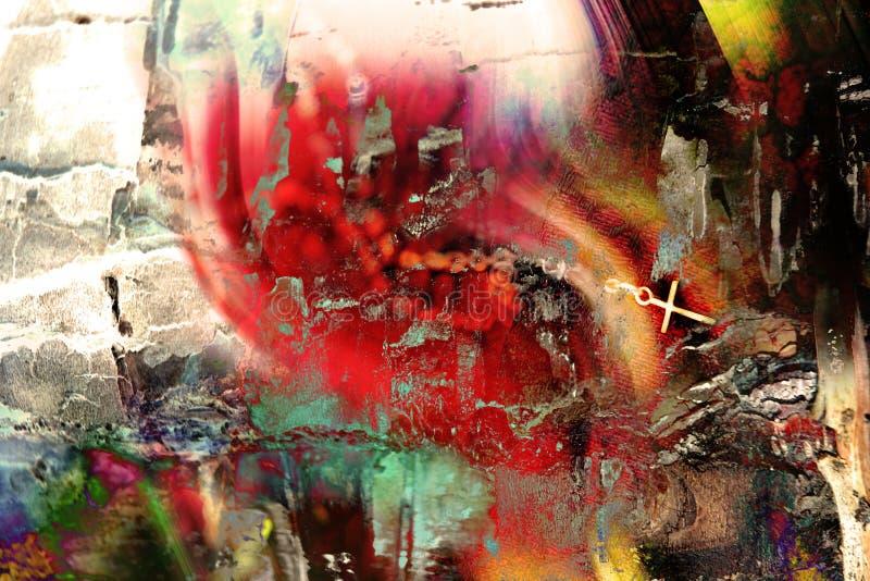 kolorowy grungy wielo- tła obraz stock