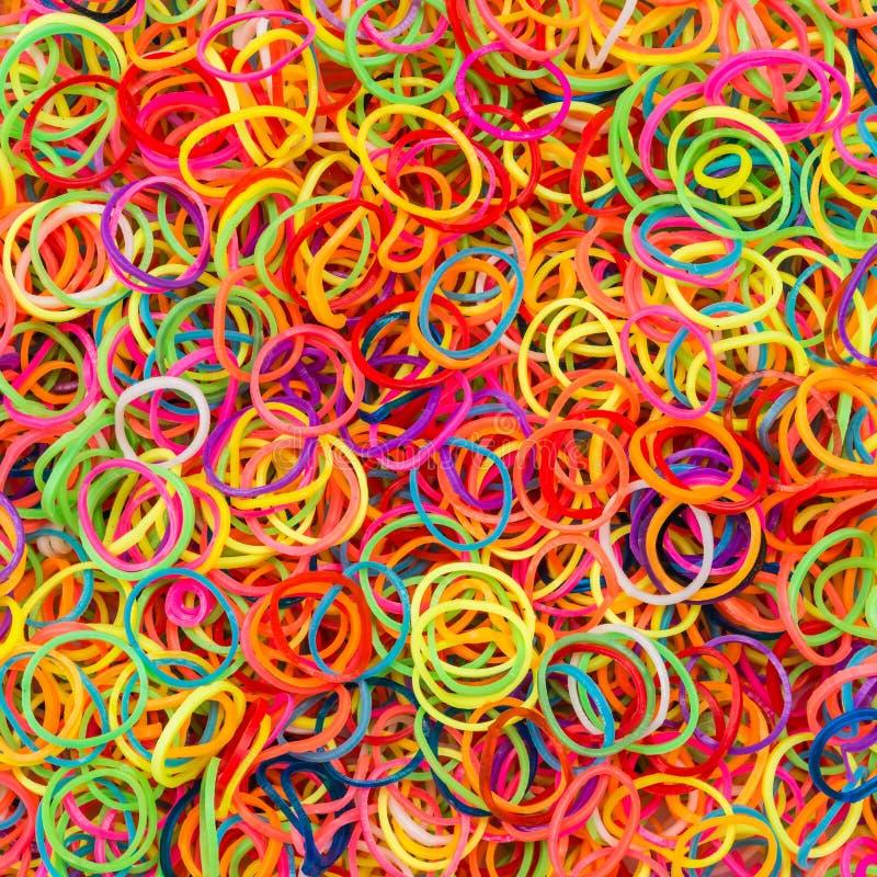 Kolorowy gumowy elastyczny zespół zdjęcie stock