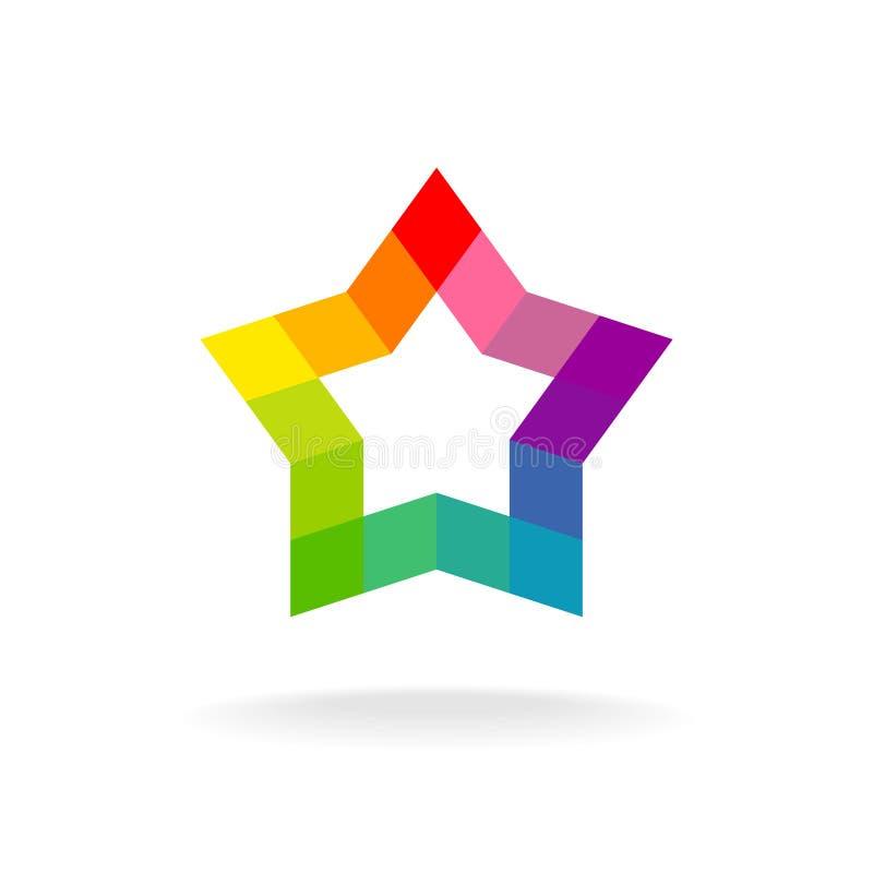 Kolorowy gwiazda znak Rhombus elementy royalty ilustracja