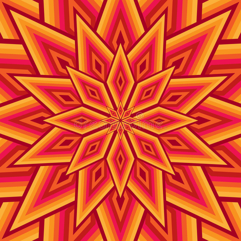 Kolorowy gwiazdowy kwiatu tło royalty ilustracja