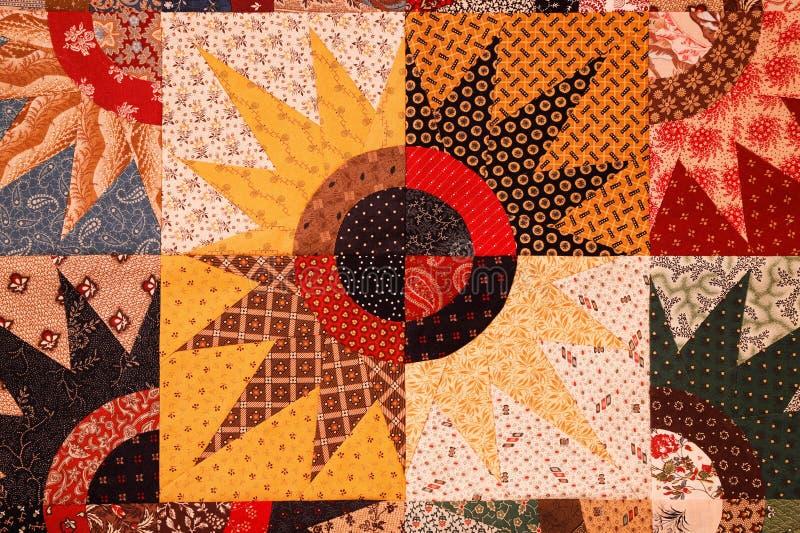 Kolorowy gwiazdowy wybuch kołderki wzór robić trójboki, kwadraty i okręgi, zdjęcia royalty free