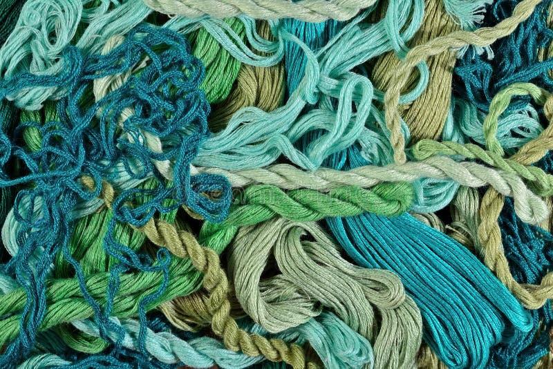 Kolorowy hafciarski floss jako tło tekstura zdjęcie stock