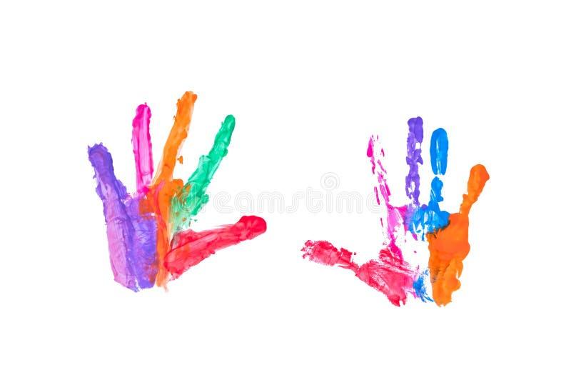 Kolorowy handpaint odizolowywający zdjęcie stock