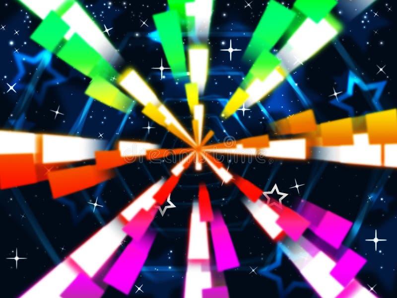 Kolorowy Heksagonalny Znaczymy gwiazdy I royalty ilustracja