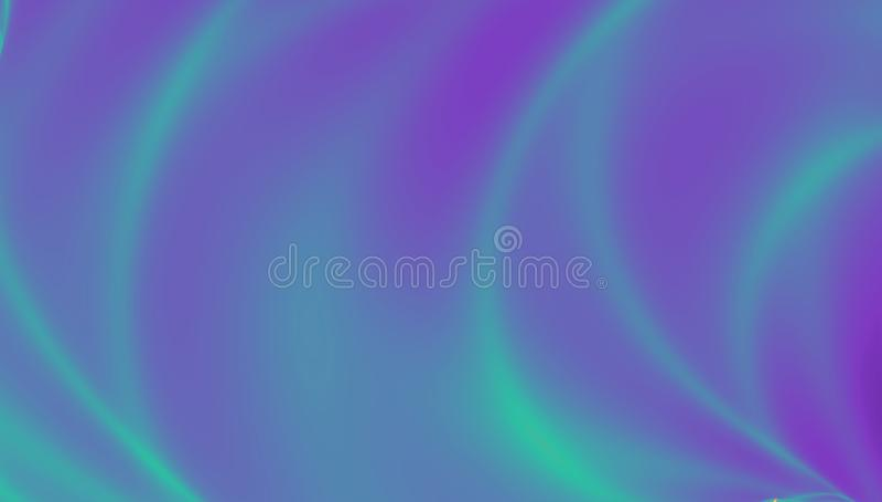 Kolorowy Holograficzny tło Jaskrawy rzadkopłynny ciecz Neonowa holografii tekstura, skutek północni światła ilustracja wektor