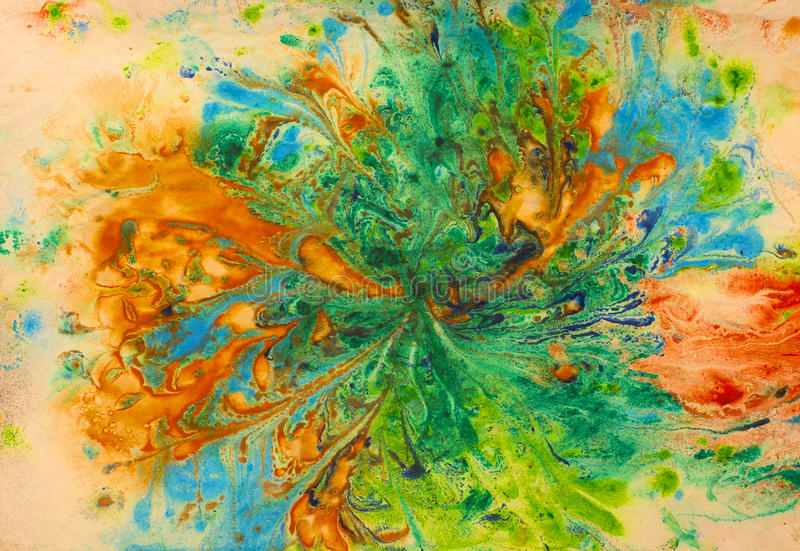 Kolorowy i abstrakcjonistyczny obraz royalty ilustracja
