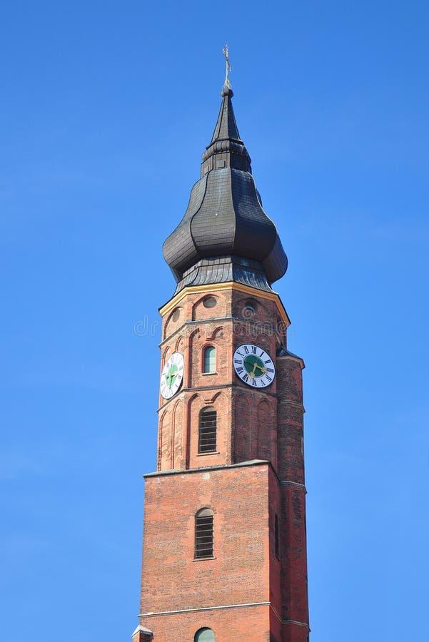Bazylika Sankt Jakob w Straubing, Bavaria fotografia royalty free