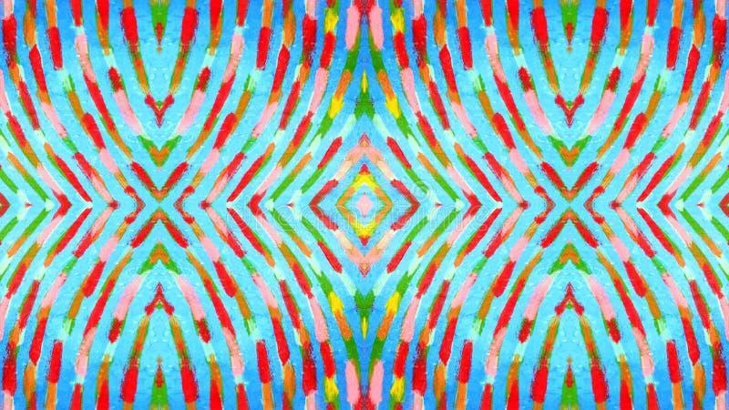 Kolorowy i falisty dekoracyjny obraz ilustracja wektor