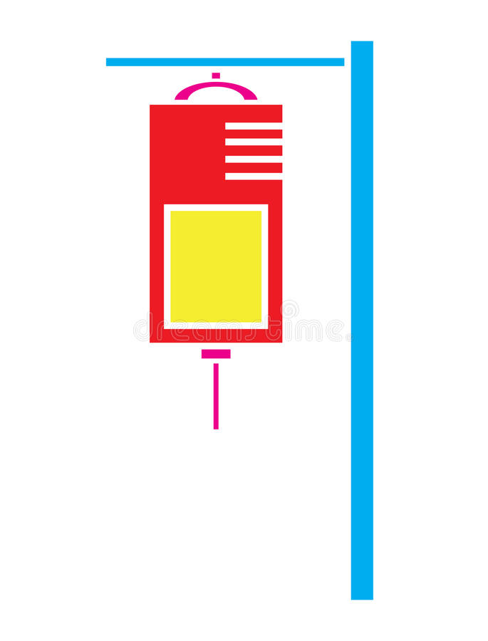 Kolorowy IV torby ikony zasolony wektor odizolowywający w białym tle ilustracja wektor
