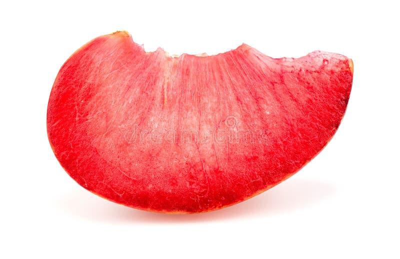 Kolorowy jaskrawy makro- zbliżenie plasterek pluot morelowa śliwkowa owoc zdjęcia royalty free