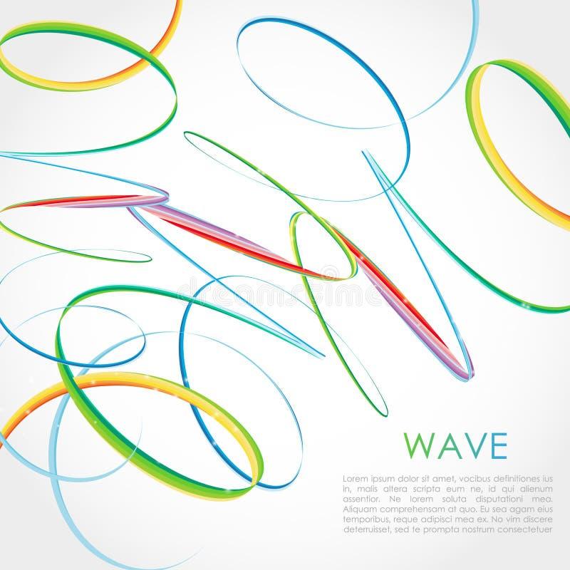 Kolorowy Jaskrawy tęczy spirali tło Wektorowy logo, sieć, sztandar, plakat, druku projekta element royalty ilustracja