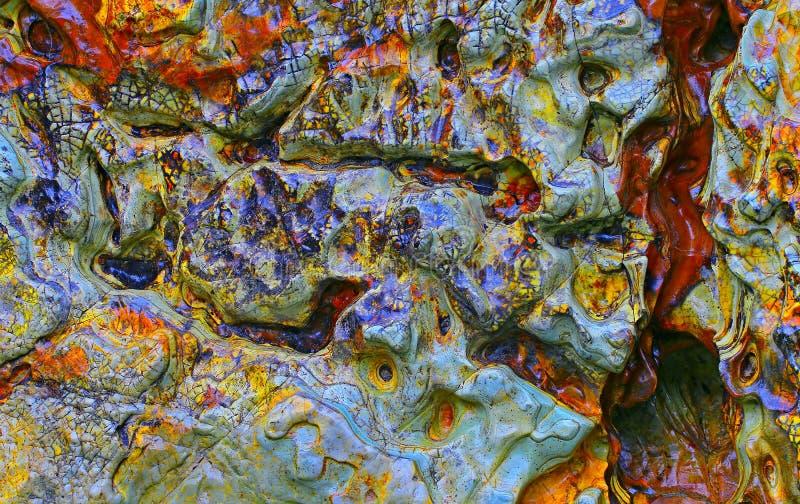 Kolorowy kamienny abstrakcjonistyczny tło obrazy royalty free
