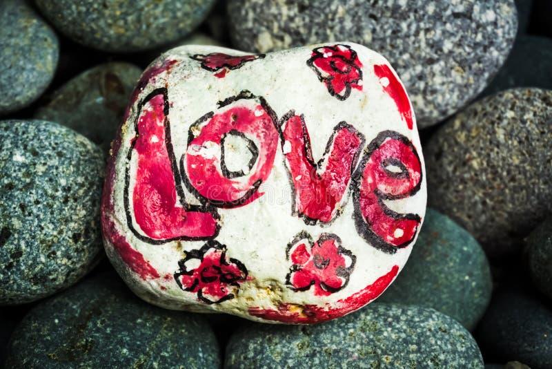 Kolorowy Kamienny obraz - miłość zdjęcia royalty free
