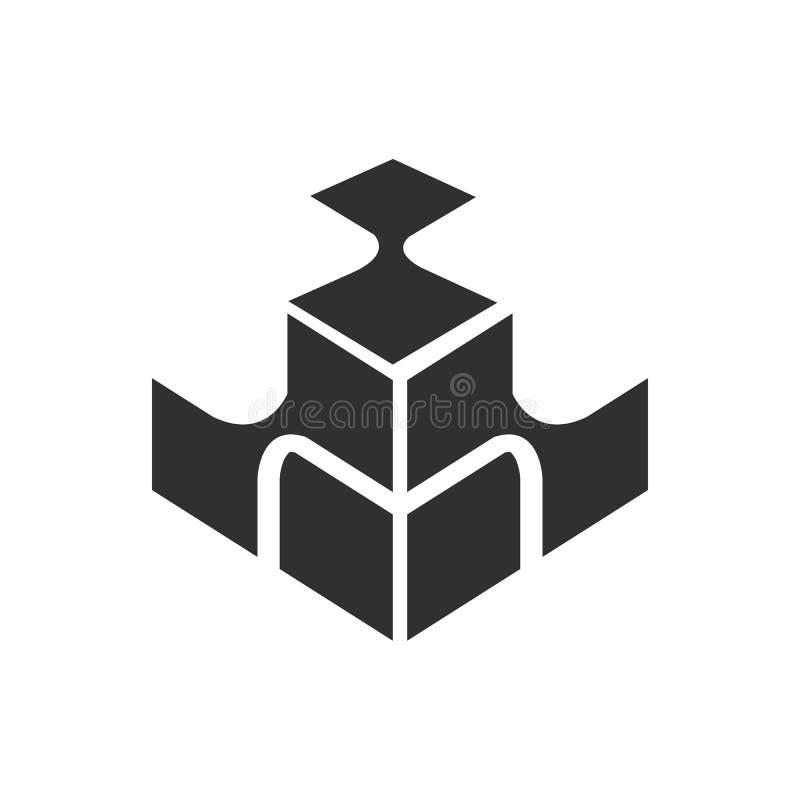 Kolorowy kierunkowa papierowa abstrakcjonistyczna wektoru, logo szablonu i projekta strzałkowatej tęczy biznesowa ikona firmy toż royalty ilustracja