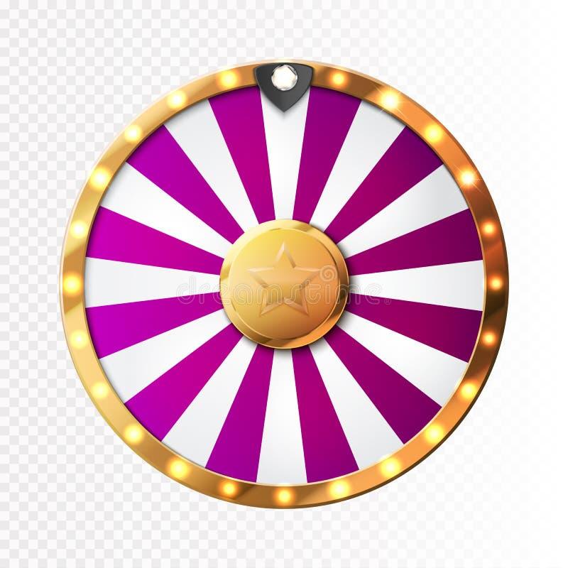 Kolorowy koło szczęście lub pomyślność infographic wektor ilustracji