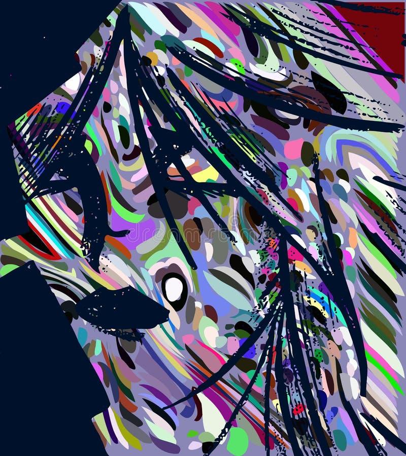 Kolorowy kobieta portret odizolowywający obrazy stock