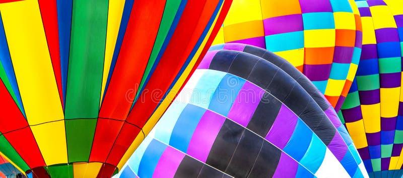 Kolorowy kolaż koperty przy 2018 Colorado Springs gorącego powietrza balonu święta pracy klasykiem obraz royalty free