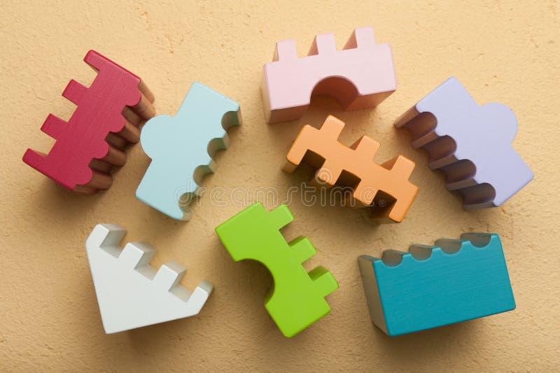 Kolorowy konstruktor, logika, mozaika br?zowy linii abstrakcyjne t?a zdj?cie zdjęcie stock