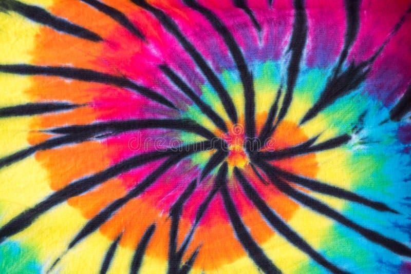 Kolorowy krawata barwidła spirali wzoru projekt fotografia royalty free