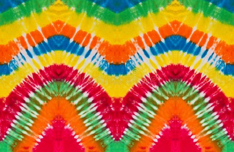 Kolorowy krawata barwidła zawijasa spirali projekta wzór obraz royalty free