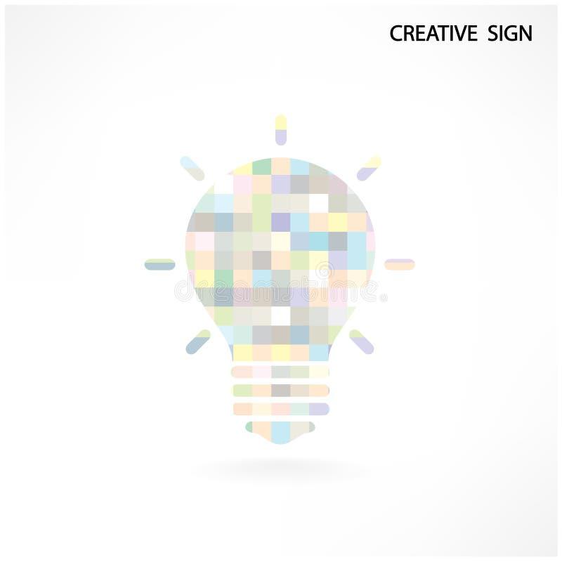Kolorowy kreatywnie żarówka znak ilustracji