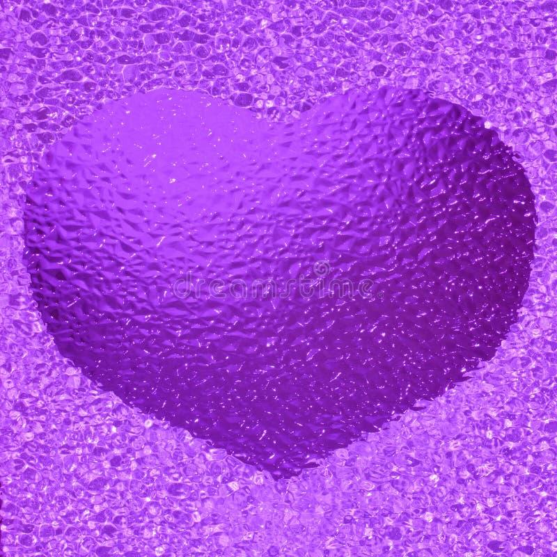 Kolorowy krystaliczny fiołek słucha bachground obraz stock