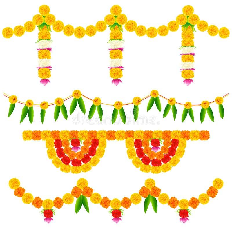 Kolorowy kwiat dekoraci przygotowania royalty ilustracja