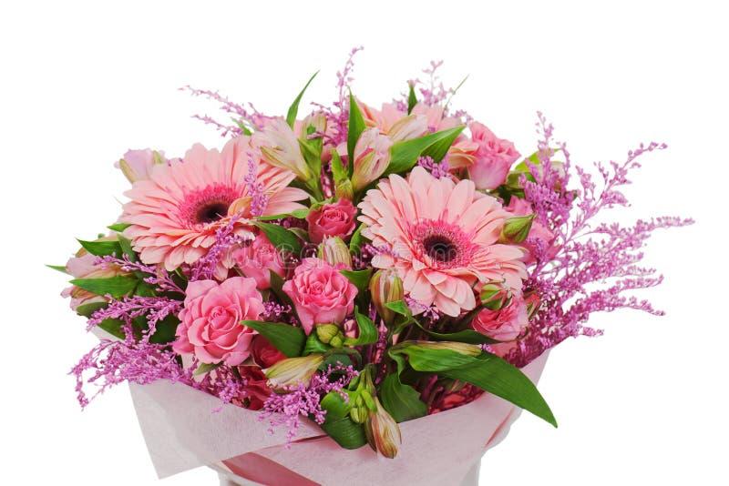 Kolorowy kwiatu bukieta przygotowania centerpiece obrazy royalty free