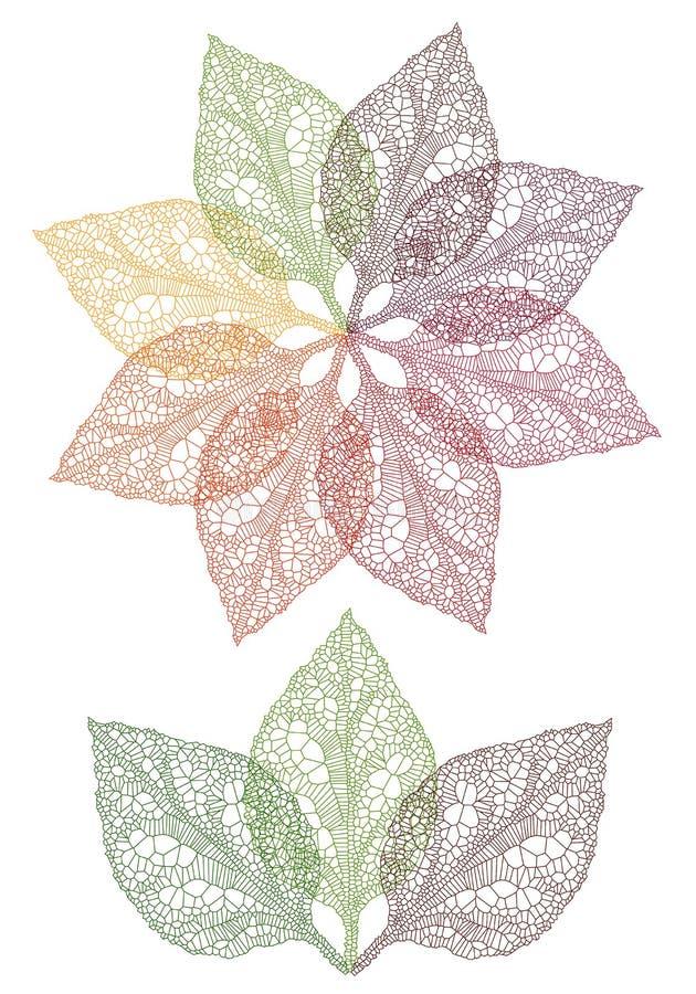 kolorowy kwiatu liść wektor ilustracja wektor