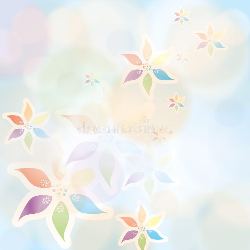 Kolorowy lato wiosny tło ilustracja wektor
