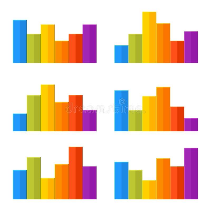 Kolorowy linii czasu Infographic mapy set wektor ilustracji