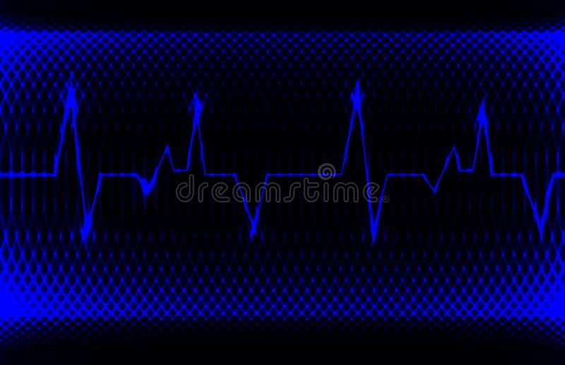 Kolorowy ludzki kierowy normalny sinus rytm, elektrokardiograma rejestr Jaskrawy i śmiały projekt obraz stock