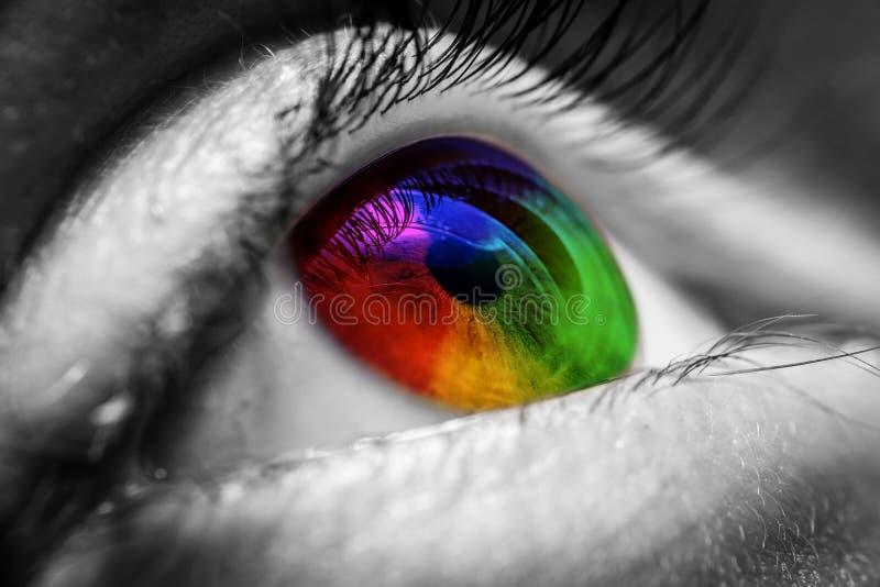 Kolorowy ludzki oko zdjęcia stock