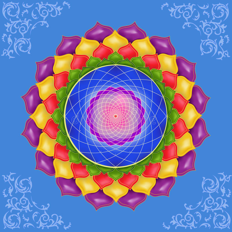 Kolorowy mandala ilustracja wektor