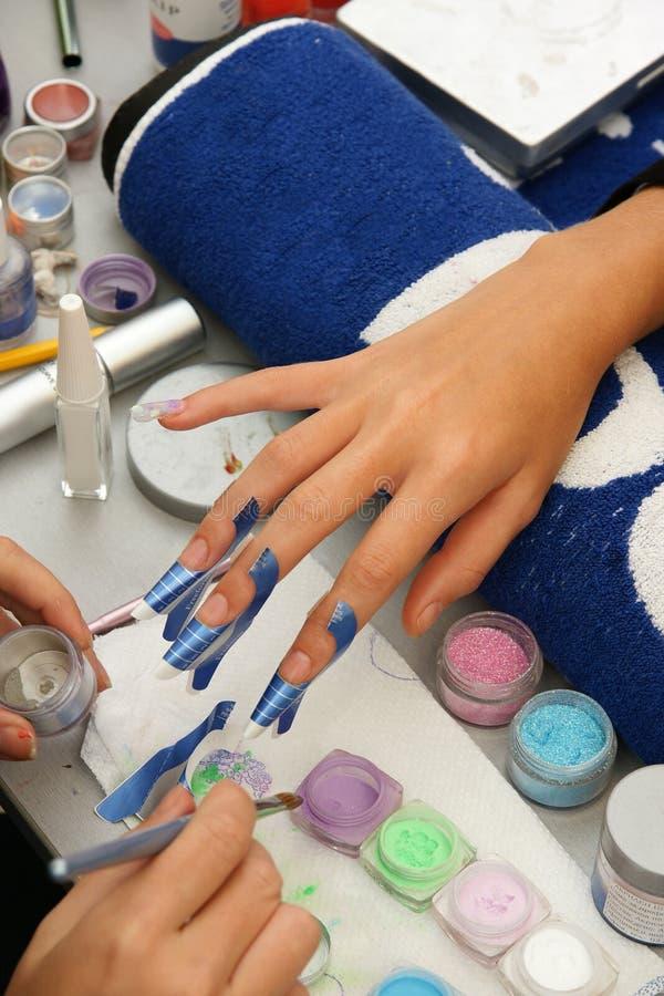 Kolorowy manicure zdjęcia royalty free