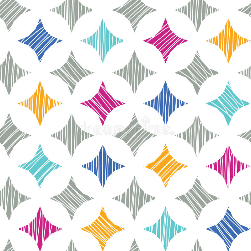 Kolorowy marmurowy textured płytka bezszwowy wzór royalty ilustracja