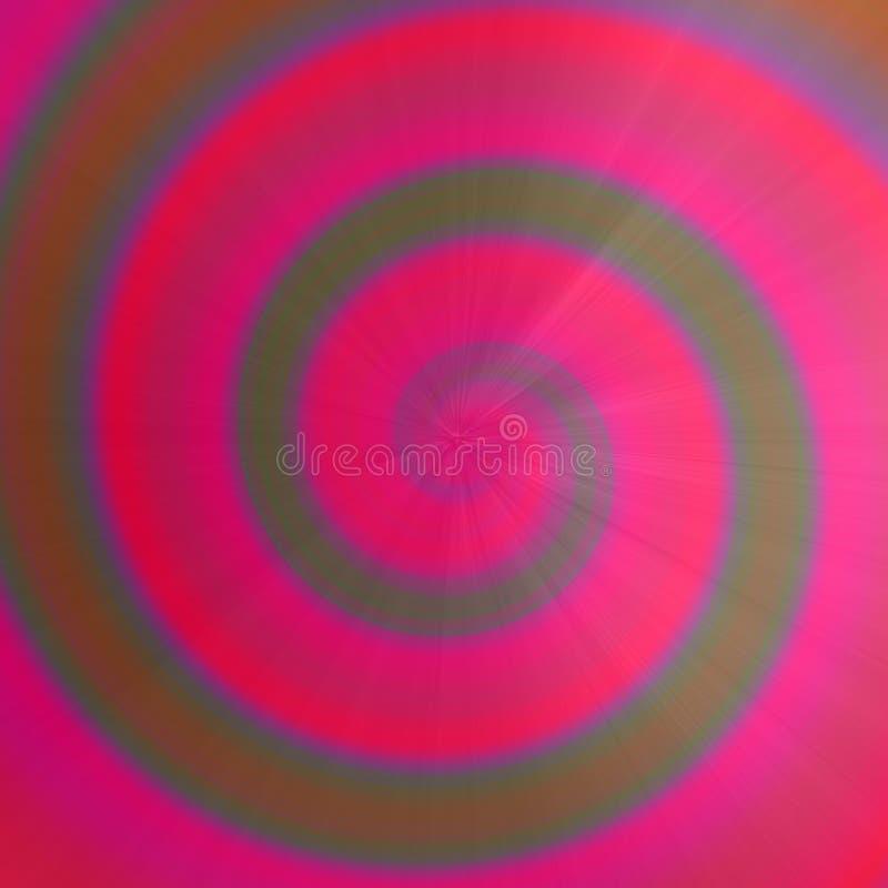 Kolorowy menchia okręgu zawijasa clockwise tło Futurystyczna tęczy spirali ilustracja royalty ilustracja