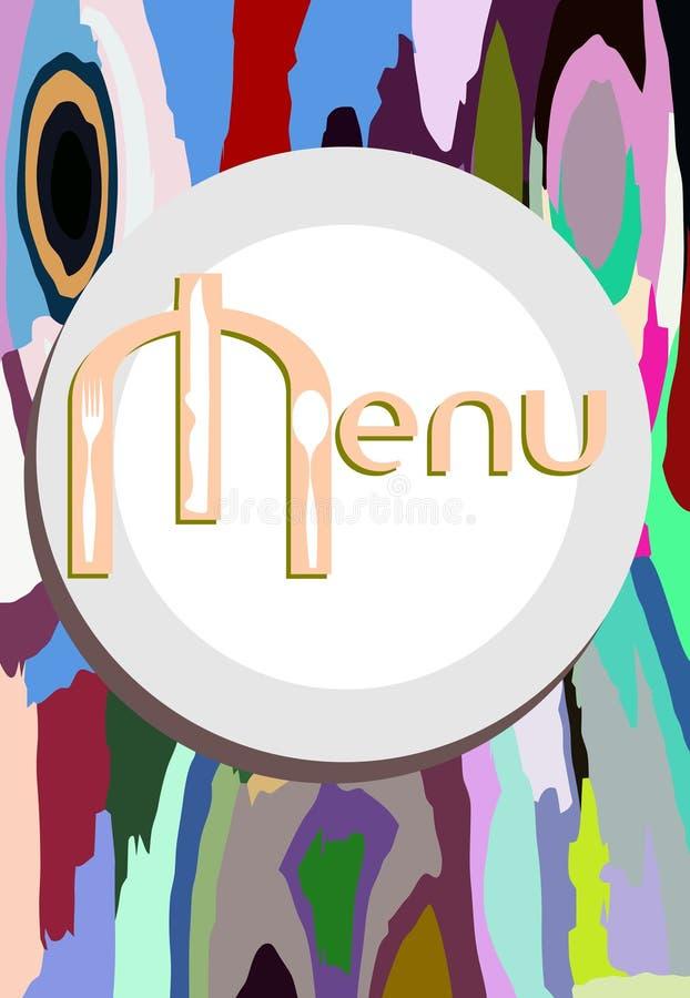 Kolorowy menu tło ilustracji