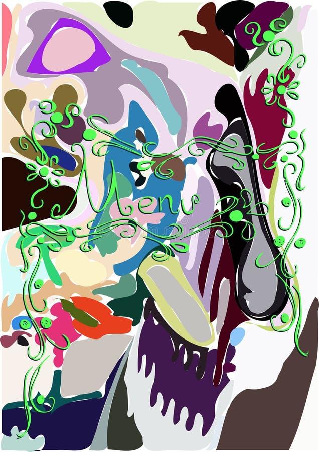 Kolorowy menu tło ilustracja wektor