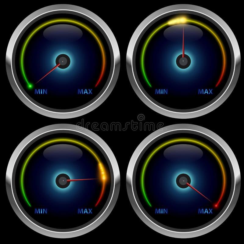 Kolorowy metrowy wymiernik ilustracja wektor