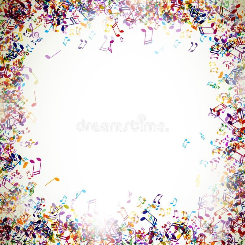 Kolorowy Musicnotes ilustracja wektor