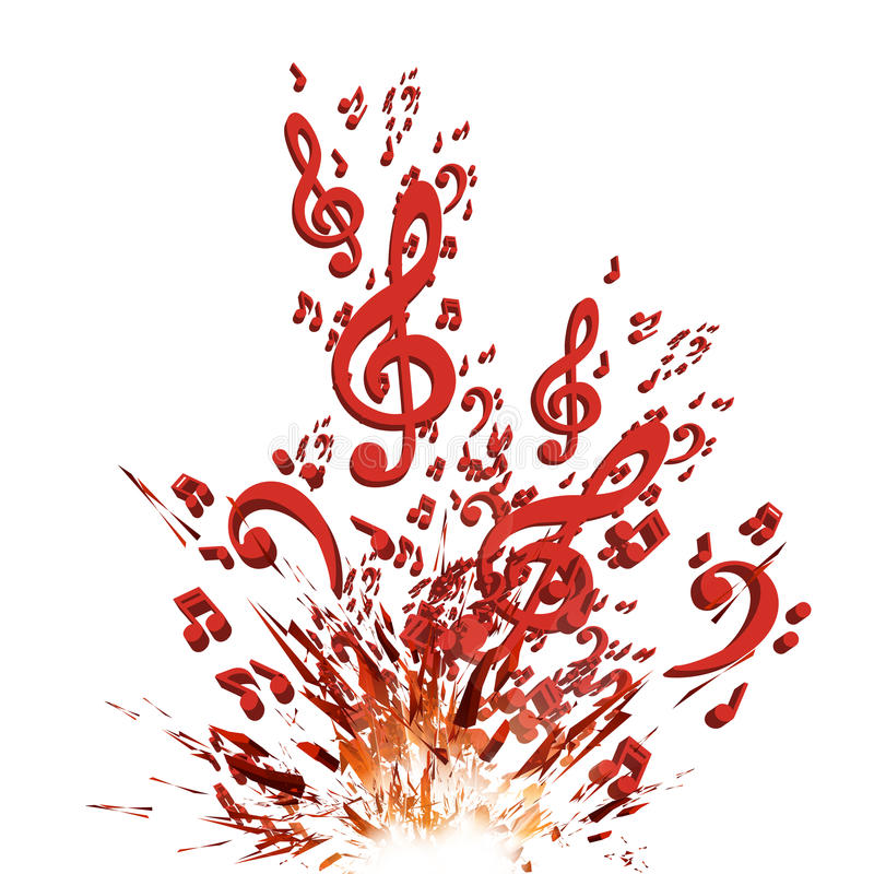 Kolorowy muzyczny wybuchu tło royalty ilustracja