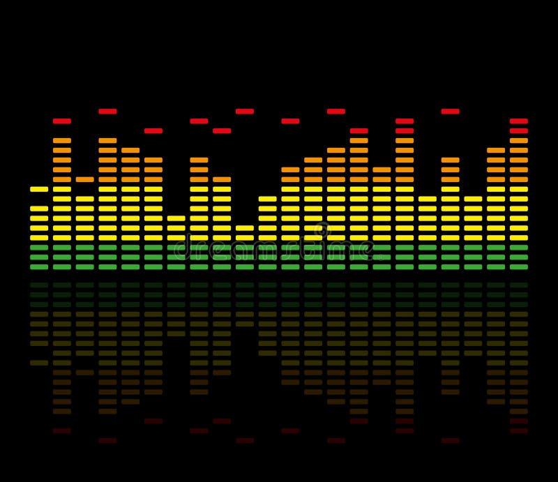 Kolorowy Muzyczny wyrównywacz również zwrócić corel ilustracji wektora obraz royalty free