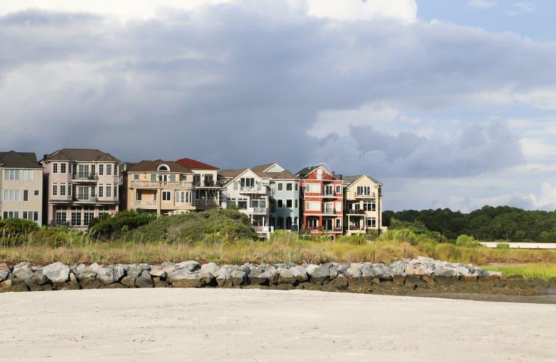 Kolorowy nabrzeże Stwarza ognisko domowe fotografia royalty free