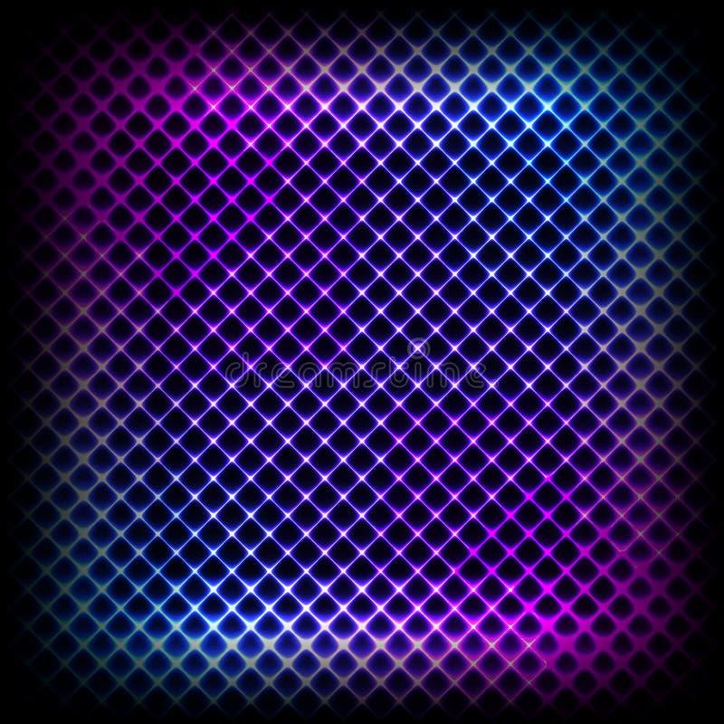 Kolorowy neonowy diagonalny tło, abstrakcjonistyczna ilustracja ilustracji