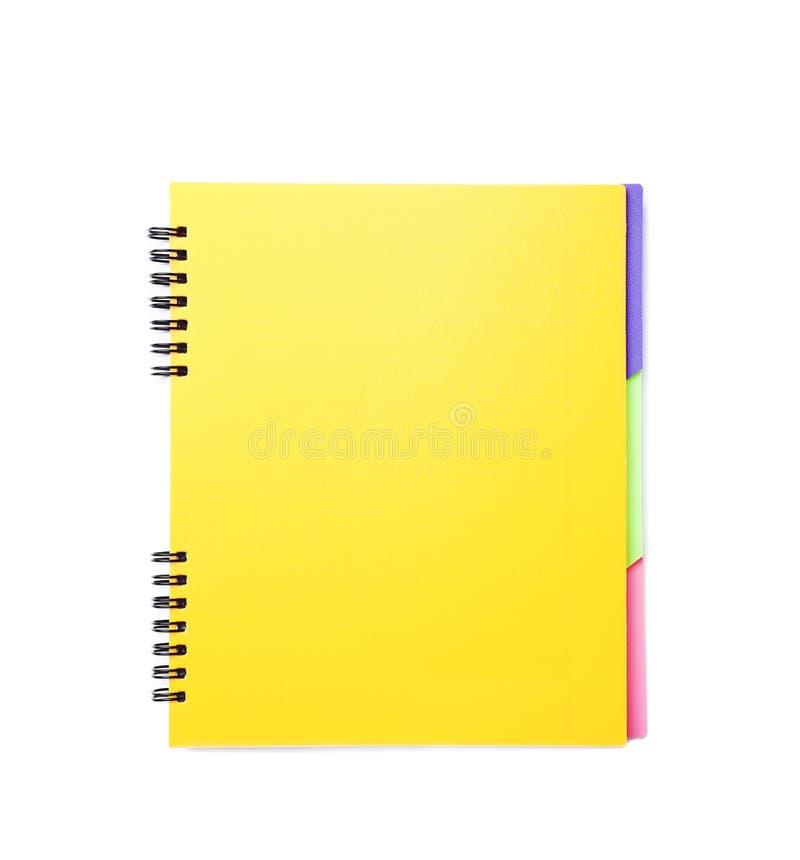 Kolorowy notatnik na białym tle zdjęcie stock