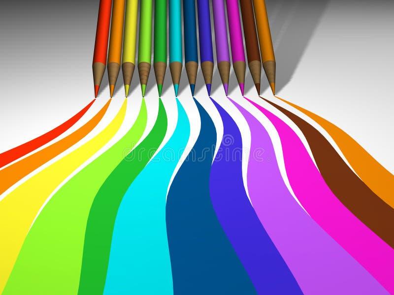 kolorowy ołówek royalty ilustracja